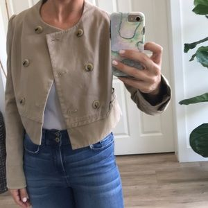 Banana Republic cropped, military-style blazer
